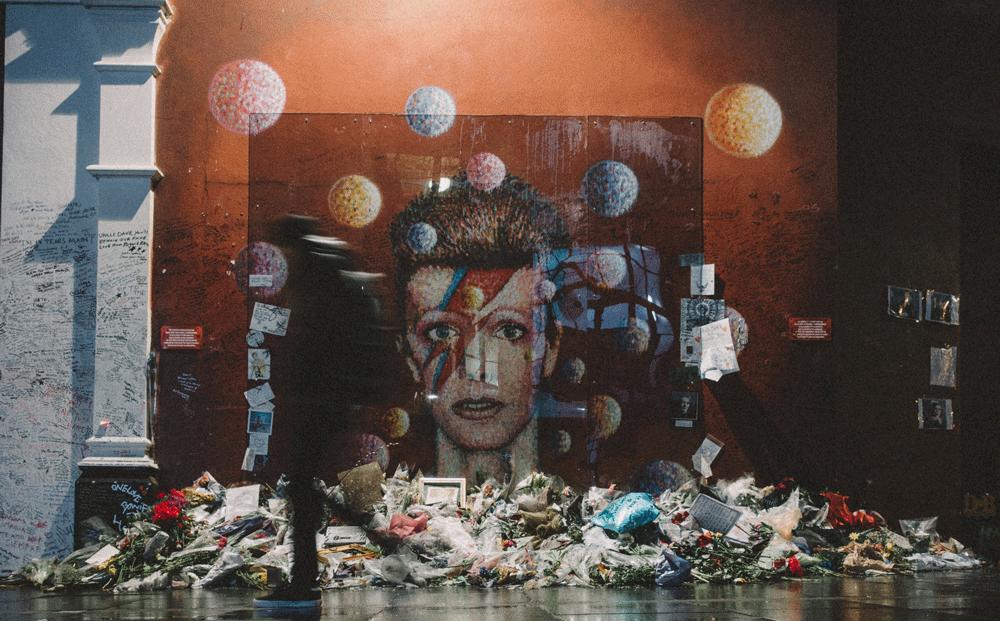 David Bowie Memorial in London UK